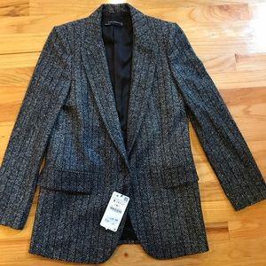 NWT Zara warm gray blazer Sz Small
